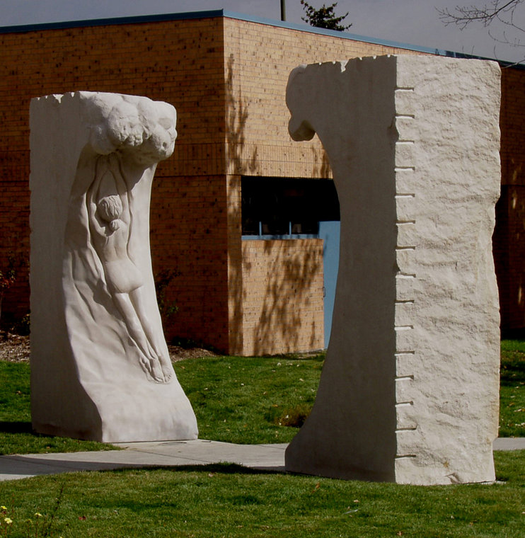 Pool Portal Sculpture by Meg White Sculpture Studio