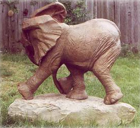 "Baby Elephant ""Ely"" Sculpture silicon bronze by Meg White"