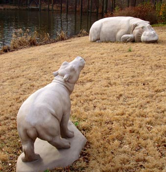 Hippo male calf sculpture by Meg White