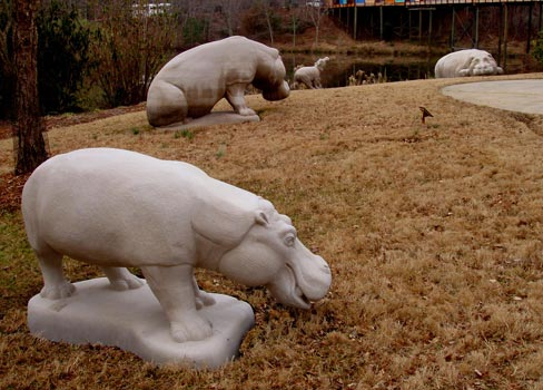 Hippo Pod, sculptures by Meg White
