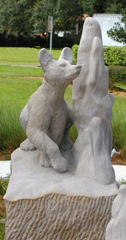 Bear Sculpture, Lake City FL, by Meg White Sculpture Studio