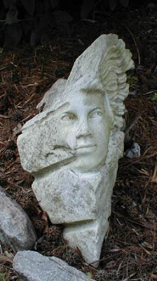 Marble head sculpture by Meg White