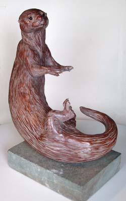 Otter sculpture for sale by Meg White