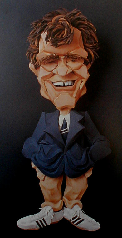 Dave Letterman paper sculpture